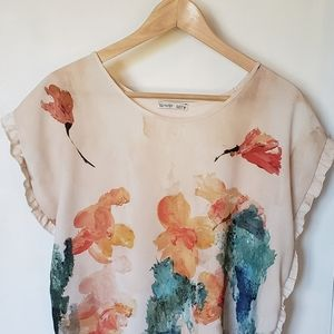 Zara/Watercolour Print Blouse